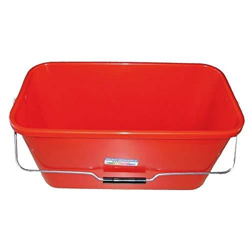 Teko Wischeimer mit Metallhalterung, Kunststoff, 12 l, Rot, Einheitsgröße