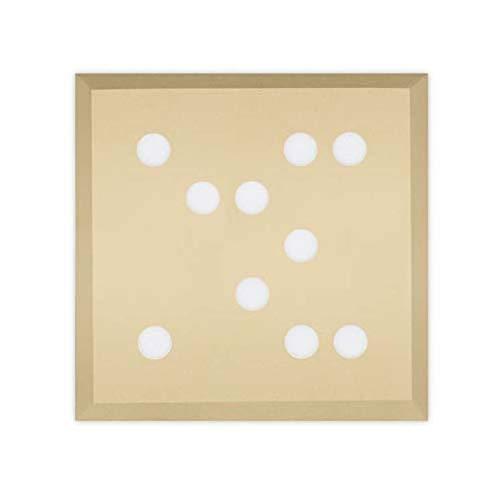 Leds-C4 - Plafonnier carré à LED peint en or