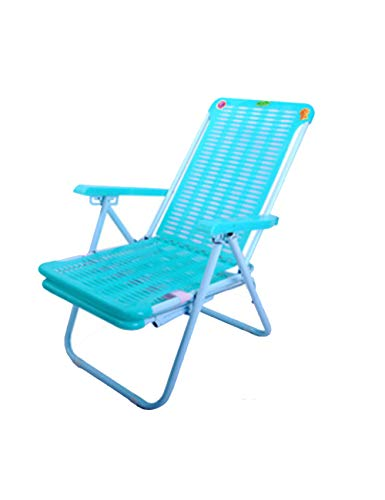 FOUWE Siesta Silla de Playa Silla de Siesta Perezosa Silla de Oficina de Ocio Silla reclinable de plástico Engrosamiento reclinable Silla Plegable
