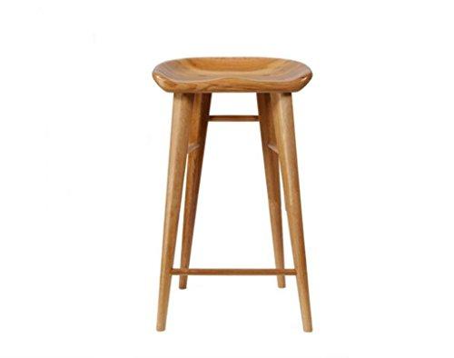 Tabouret en bois Tabouret de bar chaise bois massif américain tabouret de bar nordique antique vieux bois massif chaise maison tabouret tabouret haut grand 40 * 34 * 75 cm (taille : 40 * 34 * 65cm)