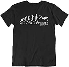 Evolución of a scuba diver Mens Camiseta Para Hombre scuba diving funny unique gift present t shirt Black shirt white print