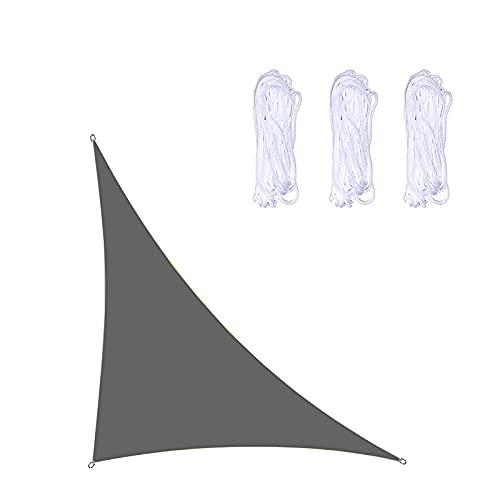 CR-XG Parasol para El Sol Vela Triángulo Paño para El Sol Impermeable Anti-UV Protector Solar Toldo Toldo 98% Bloque UV Jardín Al Aire Libre Patio Fiesta Patio Trasero Camping,Dark Gray,3X4X5M