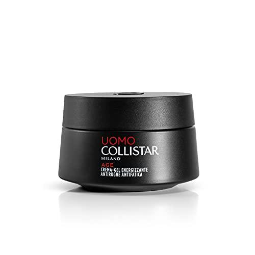 Collistar Linea Uomo Crema-gel Energizzante , Azione antirughe e antifatica, Crema-gel fresca ottima per tutti i tipi di pelle, previene rughe e segni d'espressione, 50ml