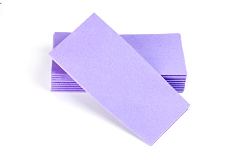 Simulinen Colored Napkins - Decorative Cloth Like & Disposable, Dinner Napkins - Lavender, Soft, Absorbent & Durable - 16'x16' - Great for Any Occasion! - Box of 50