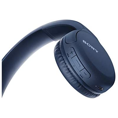 Cheap Sony Wh Ch510 Wireless Bluetooth Headphones With Mic 35 Hours Battery Life With Quick Charge On Ear Style Hands Free Call Voice Assistant Blue Price Comparison For Sony Wh Ch510 Wireless Bluetooth