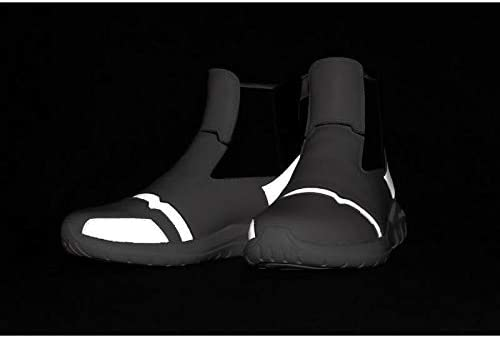 Soulsfeng Laceless Sneakers Leather Reflective High Tops Athletic Shoes