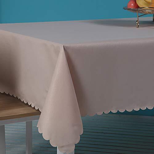 LUNANA tafelkleed vuilafstotend, Supply tafelkleed, rechthoekig, voor bruiloften, avondeten en verjaardagsfeesten, vuilafstotend, gemakkelijk te reinigen, rechthoekig, afdekking 150 x 300 cm