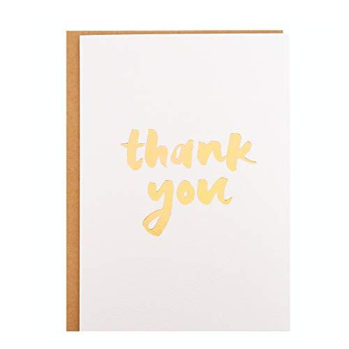 Thank You Card - Single White Textu…