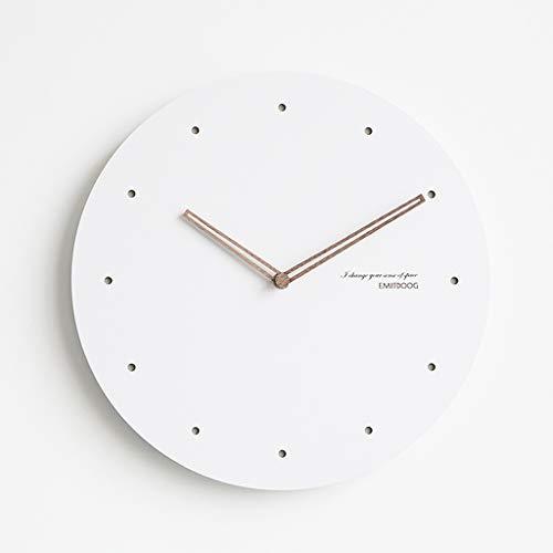 Everyday home Nordique moderne minimaliste blanc horloge murale muet salon/chambre à coucher créatifs ornements de mode (Couleur : Scale B, taille : 38cm)