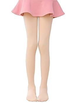 Govc Girls Ultra Soft Footed Thin Fleece Lined Warm Dance Ballet Tights Leggings Kakhi,XL
