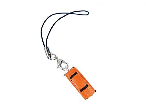 Miniblings Trabi Trabant Trabbi Handyanhänger Modell 1:160 Miniatur Auto orange- Handmade Modeschmuck I Anhänger Handyschmuck Schlüsselanhänger