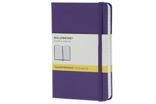 Moleskine farbiges Notizbuch (Pocket, Hardcover, kariert) violett