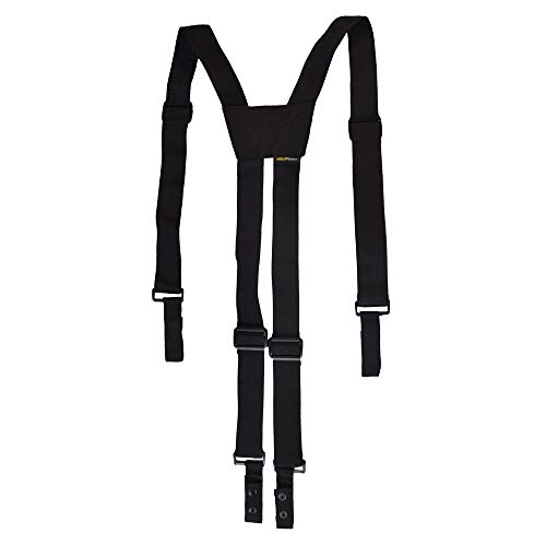 Nylon Police Suspenders for Duty Belt, Adjustable Tactical Duty Belt Harness For Duty Belt, 4 Loop Attachment,Black