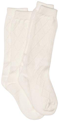 PEX - Calcetines para niña, pack de 2, talla UK Shoe: 9-12 (3-6 Years) - talla inglesa, color blanco