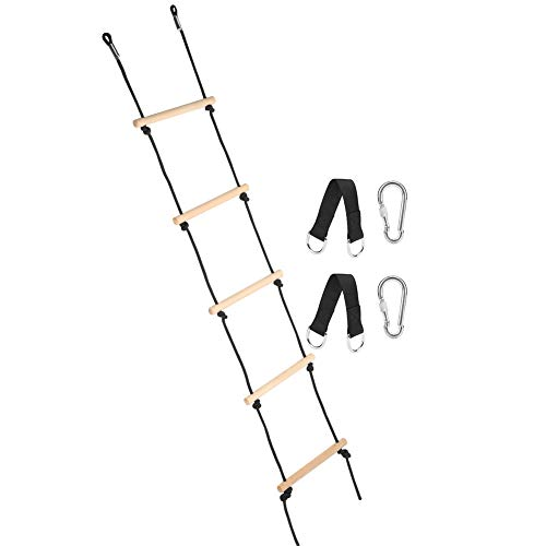 SMBYLL Niños Swing Recreación Juguete 5 Pasos Al Aire Libre Niño Bosque Tocando Escalada Escalada Escalera Equipo Aptitud Equipo para Interiores Al Aire Libre Usando