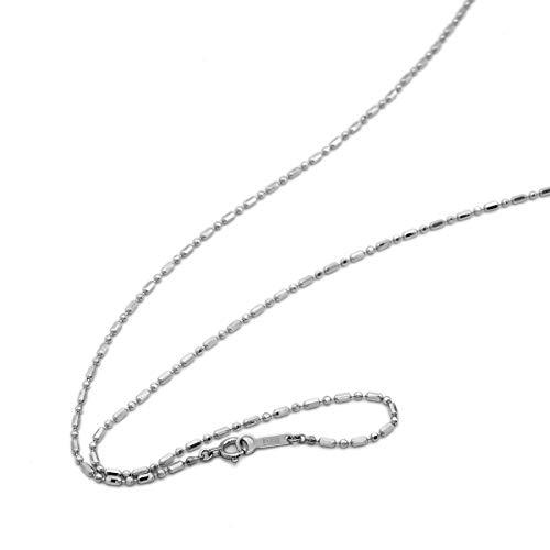 [ルビイ] プラチナ Pt850 カット変形ボールBR チェーン ネックレス 幅1.5mm 長さ60cm