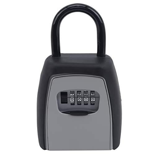 Kissherely Schlüsselsafe mit Haken Schlüssel Aufbewahrungsbox Vorhängeschloss Schlüsselbox Ohne Installation Sicherheitsschloss Vorhängeschloss Passwort Verwenden Sie das Schloss