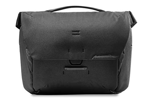 Peak Design Everyday Messenger V2 13L Black, Travel or Photo Carry with Laptop Sleeve (BEDM-13-BK-2)