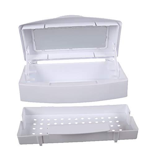 DEDC Nail Art Tool Esterilizador Bandeja, Caja de esterilizador limpia para herramientas de arte de uñas, utilizadas con alcohol o desinfectante