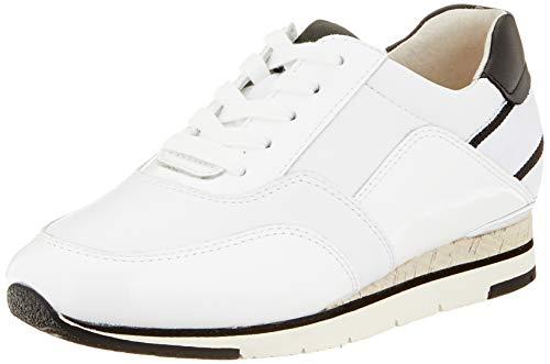 Gabor Shoes Damen Jollys Sneaker, Weiß (Weiss/Schwarz 21), 39 EU