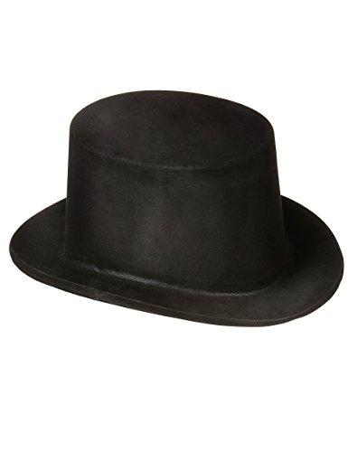 DEGUISE TOI - Chapeau Haut de Forme Noir en Plastique Adulte - Taille Unique