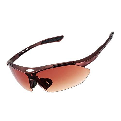 CVMW Gafas de sol para deportes al aire libre, gafas de sol, gafas de montar para hombre y mujer con marco de bronce