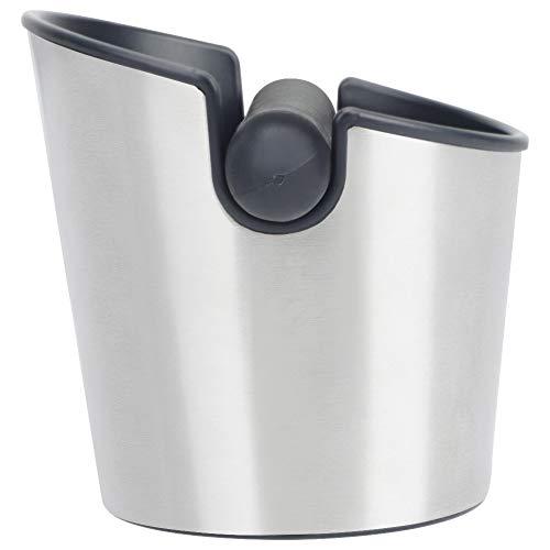 Cassetta da caffè in gomma, in acciaio inox, per caffè espresso, contenitore per caffè e caffè, barra in gomma per accessori per macchine da caffè, base antiscivolo
