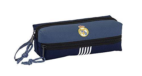 Real Madrid- Manualidades/Escolares Unisex Adulto Estuche portatodo Triple Blue' 841901-823, Multicolor, Talla única…