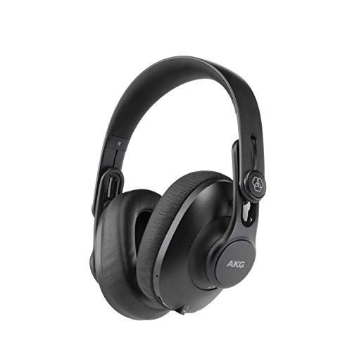AKG K361BT Over Ear Foldable Studio Headphones With 28 Hour Battery Life, Bluetooth 5.0 And HD Microphones For Calls, Live Streams, Podcasting, Vlogging