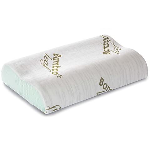 Flowen Cuscino Cervicale Memory Foam per Dormire Ortopedico Alto in Aloe Vera Dispositivo Medico per...