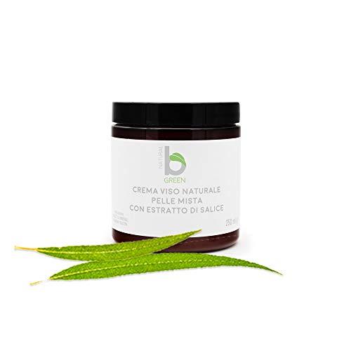 crema facial mixta para la piel con extracto de sauce natural - frasco de 250 ml
