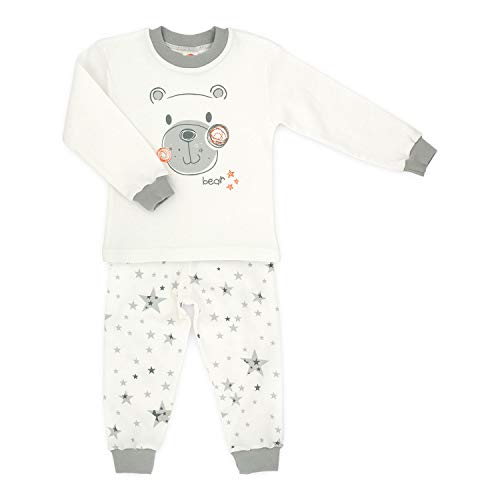 MAKOMA Baby Pyjama Set aus Hose und Langarmshirt Größe 80 86 92 98 104 (92, Stars &...