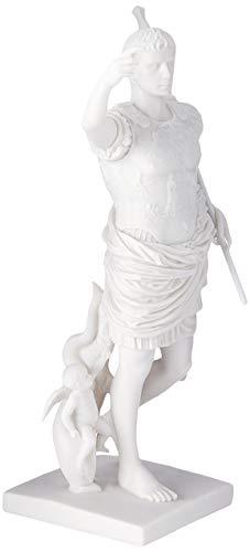 Design Toscano WU73509 Statua in Marmo Cesare Augusto di Prima Porta, Bianco, 12.5x14x29 cm