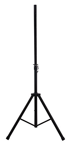 McGrey SPS-1 Boxenstativ Stahl schwarz (Boxenstativ aus Stahl, stabile, extra breite Dreibein-Konstruktion, ausziehbar von ca. 130 - 193 cm, Belastbarkeit: max. 50 kg, Gewicht: 3,3 kg)