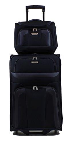 Travelite Trolley 63 cm + Beauty Case (Schwarz)