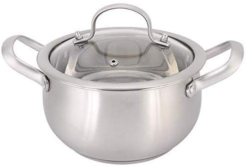 Pan roestvrijstalen melkpan dubbel oor soeppan soep fornuis Hot Pot kookpan set 18cm