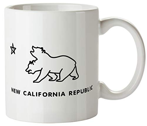New California Republic Double Funny Mug 11oz Coffee Tea Novelty Mug Ceramic White 11 Ounce Great Gift Idea Meme Cup