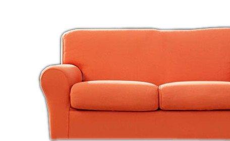 Copridivano Bassetti mania per divani 3 posti fino a 210 cm di larghezza (arancione)