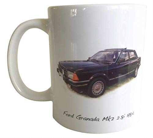 Ceramic Mug - Ford Granada Mk2 2.8i 1984 - Present for the Ford Fan