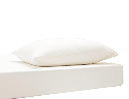 Blanc des Vosges Uni Jersey Drap housse extensible 2 tetes Coton Blanc de 140x190 cm à 180x220 cm