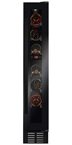 Amica WK 341 100 S Weintemperierschrank mit Kompressortechnik für 7 Flaschen ´a 0,75L, Temperaturbereich 5-20°C, Tür-Offen-Alarm