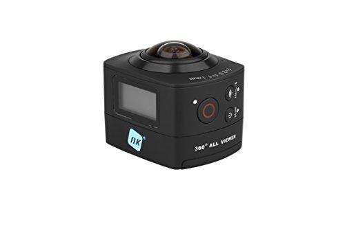 NK AC3078-360 Action Camera 360° 8MP grandangolare Custodia WaterProof inclusa, WiFi, Full HD 1080p, LCD 2 , nero