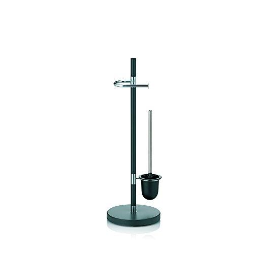 Kela 22231, WC-Bürstentopf und Papierhalterung, Toilettengarnitur, Metall, Sinerio, 76,5cm, Anthrazit