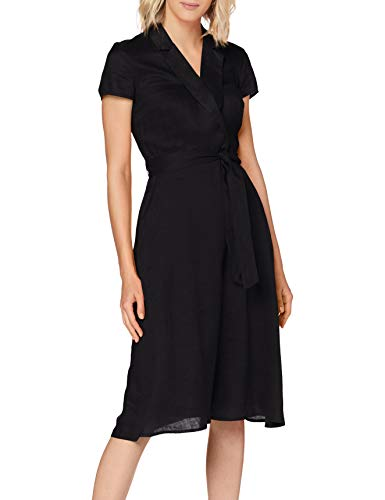 ESPRIT Collection Damen 040EO1E314 Kleid, 001/BLACK, 36