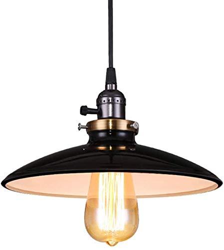 NANA318 E27 Vintage Retro Lamp Metaal Industrial Plafondlamp zwart hanglamp tafellamp industriële eettafel eettafel hal woonkamer café zwart D35