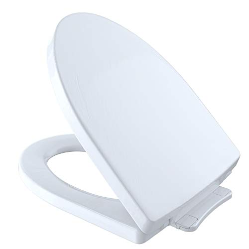 TOTO SS214#01 Soiree SoftClose Elongated Toilet Seat, Cotton White