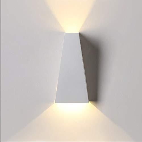 WZHZJ Lámpara de Pared LED de 10W lámpara de Pared de iluminación Decorativa de Pasillo de Dormitorio Impermeable Interior y Exterior Moderno (Color : A)