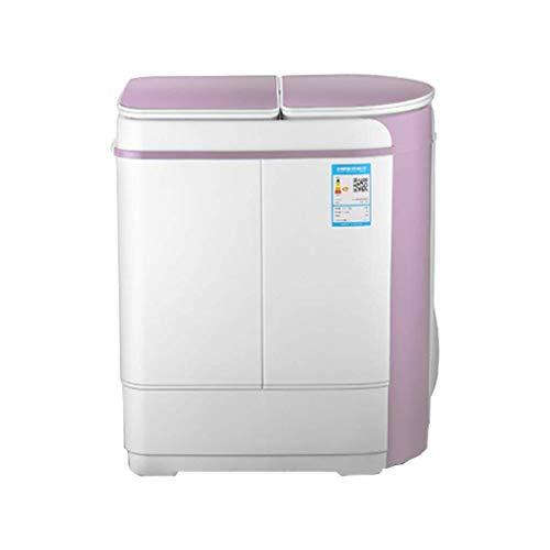 Hyl Lavadoras de Ropa Doble Tambor hogar semiautomático Mini fáciles de Mover el bajo liberadores de Doble Uso secador de púrpura Blanco, Apartamento de Interiores