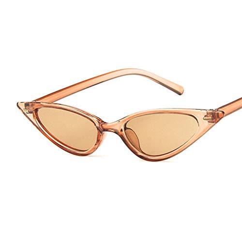Mtong Gafas de sol vintage de ojo de gato, gafas de sol retro para mujer, gafas de sol triangulares (color: negro amarillo claro)