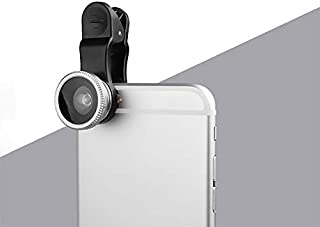 MIRUN - 3 in 1 Universal Clip Lens Fish, Eye Macro, Phone lens,Wide Angle Camera for Smart Phones - Silver